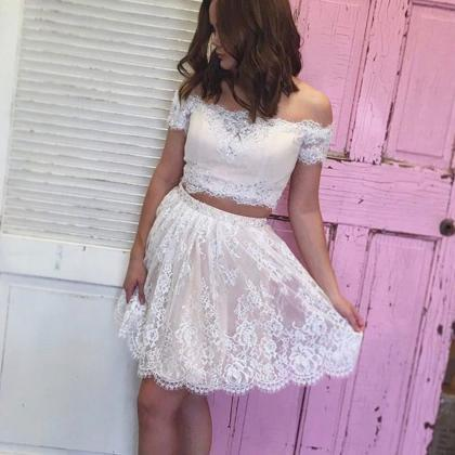 ivory homecoming dresses,two piece ..