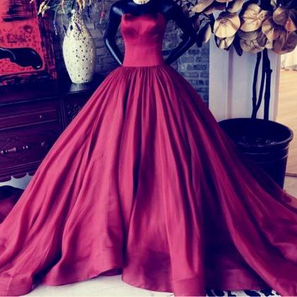 burgundy ball gowns,sleeveless prom..
