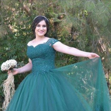 Emerald Green Prom Dresses Ball Gow..