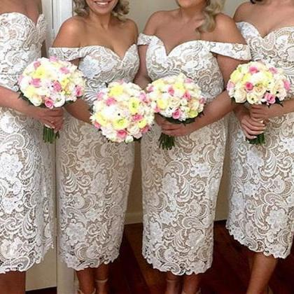 Lace Short Bridesmaid Dresses With ..