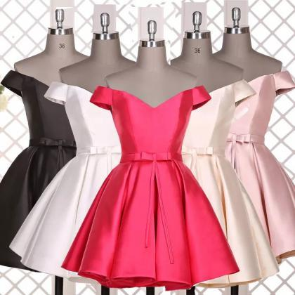 off the shoulder dress,satin prom d..