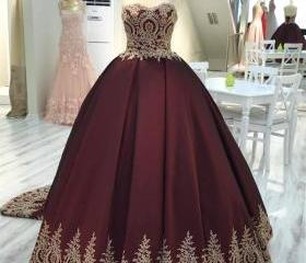 wine red wedding dre..