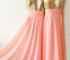 Gold Sequins Long Ch..