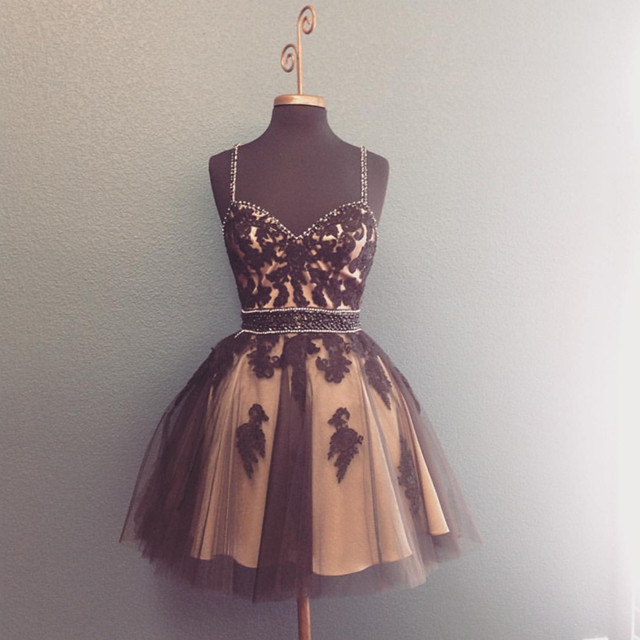 Tulle Homecoming Dress,Short Prom Dresses Lace Appliques,Sweetheart Cocktail Dresses