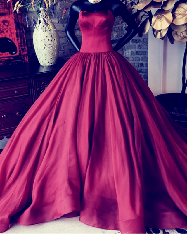 burgundy ball gowns,sleeveless prom dress,prom dresses 2019,ball gowns quinceanera dresses