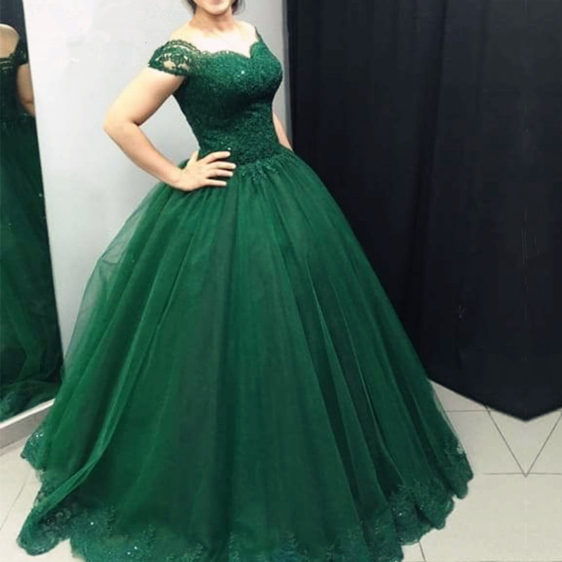 8f9416a4616 Emerald Green Prom Dresses Ball Gowns