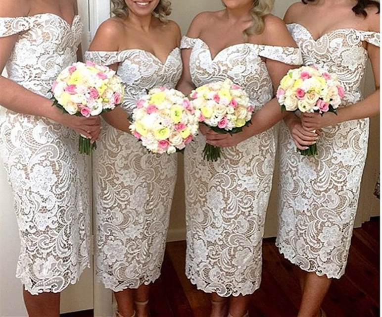 Lace Short Bridesmaid Dresses With Straps 2016 Elegant Wedding Party Dress For Maid Of Honor