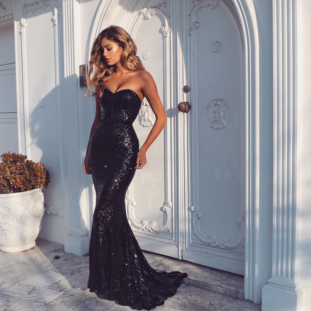 5983f72846065 Black Prom Dresses,sequin Prom Dresses,mermaid Evening Dress on Luulla