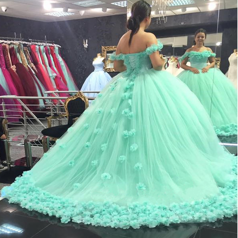 mint green quinceanera dressball gowns wedding dressmint