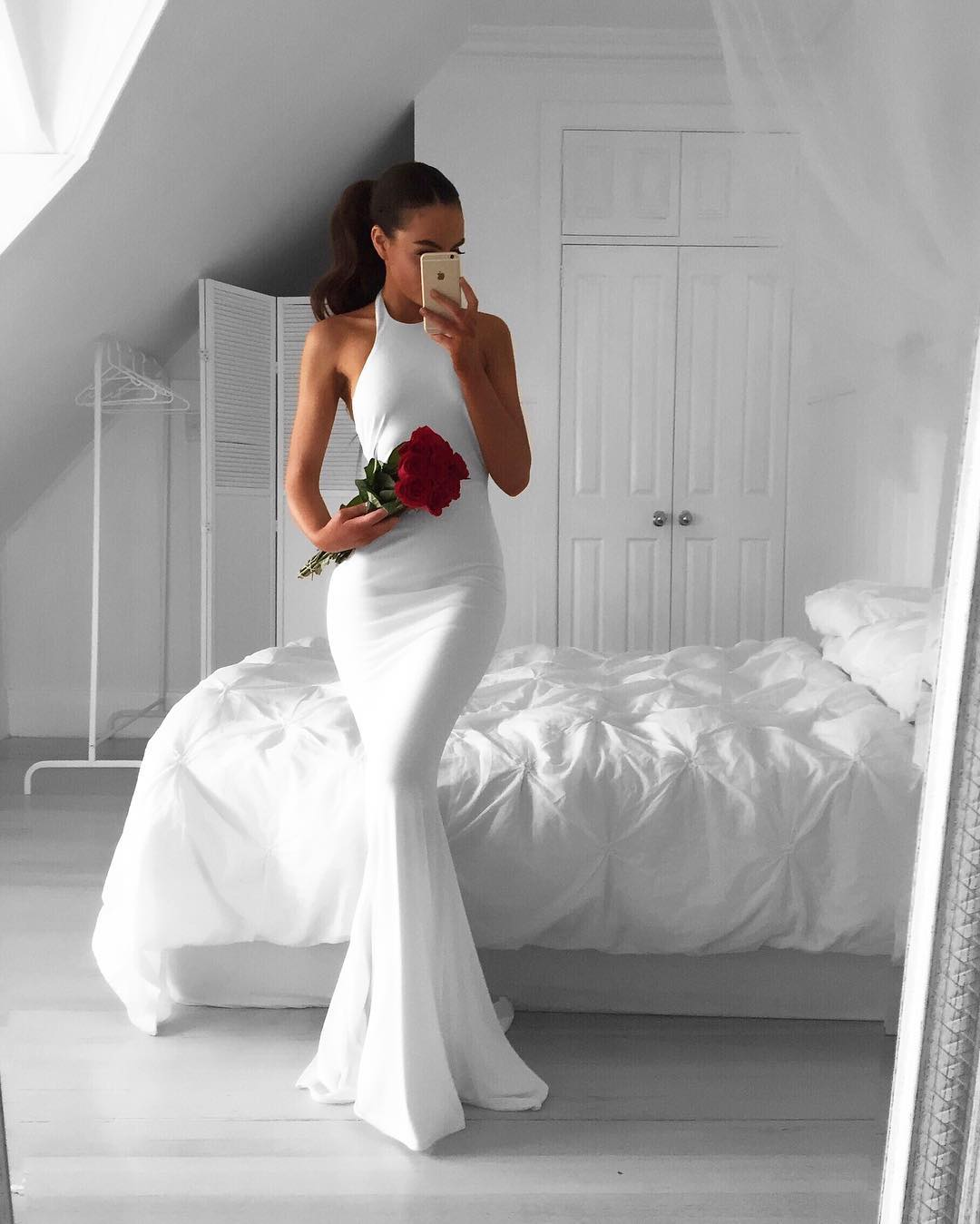 white prom dress,long mermaid dress,white evening dresses,long evening gowns,sexy backless prom dress,prom dress 2017
