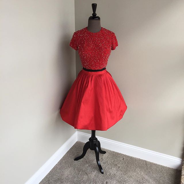 Two Piece Homecoming Dresses a38ecb4ca