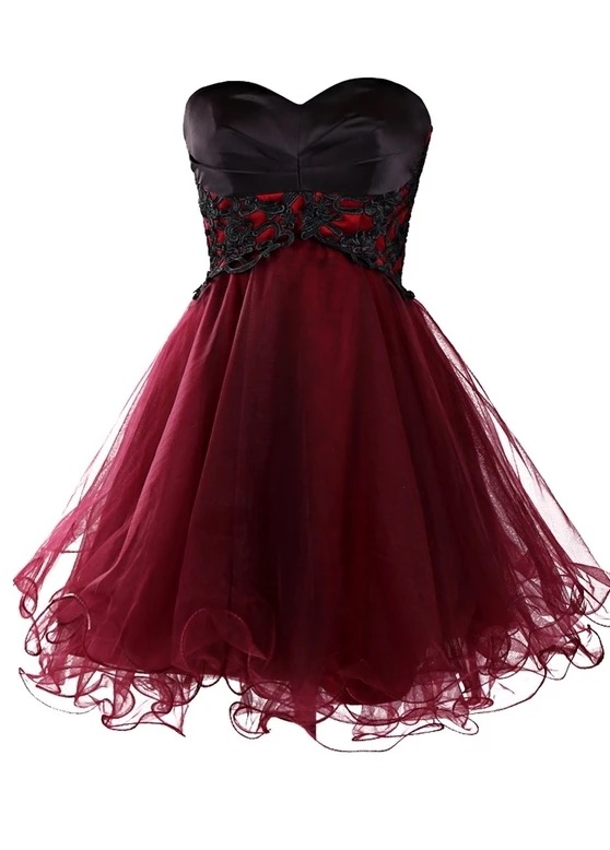 burgundy prom dress,short prom dresses,ruffles dresses,homecoming dress,elegant cocktail dress,chic prom gowns,short bridesmaid dress
