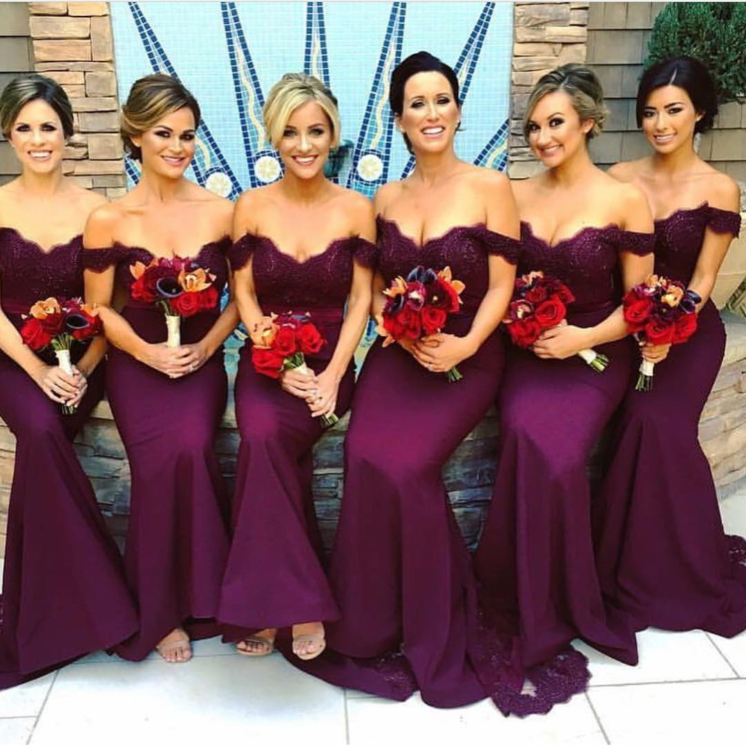 Purple lace sweetheart long mermaid bridesmaid dresses 2017 purple lace sweetheart long mermaid bridesmaid dresses 2017 elegant ombrellifo Images
