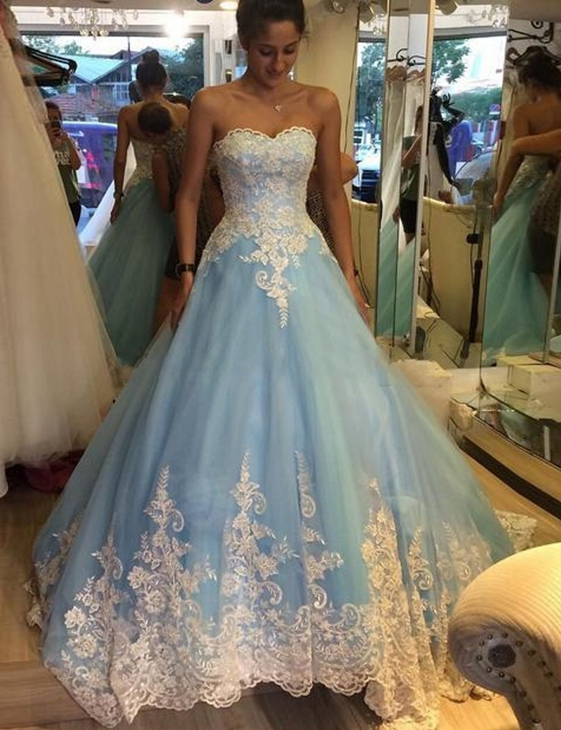 Baby Blue Quinceanera Dresses,elegant Quinceanera Dresses,ball Gowns ...