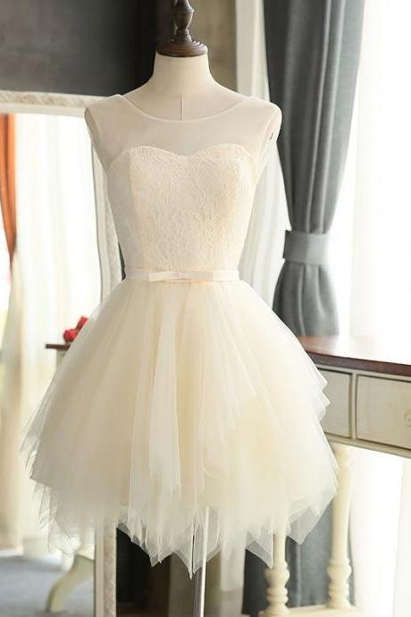 white homecoming dress,short mini prom dresses 2017,ball gown dress,lace cocktail dress,short bridesmaid dresses