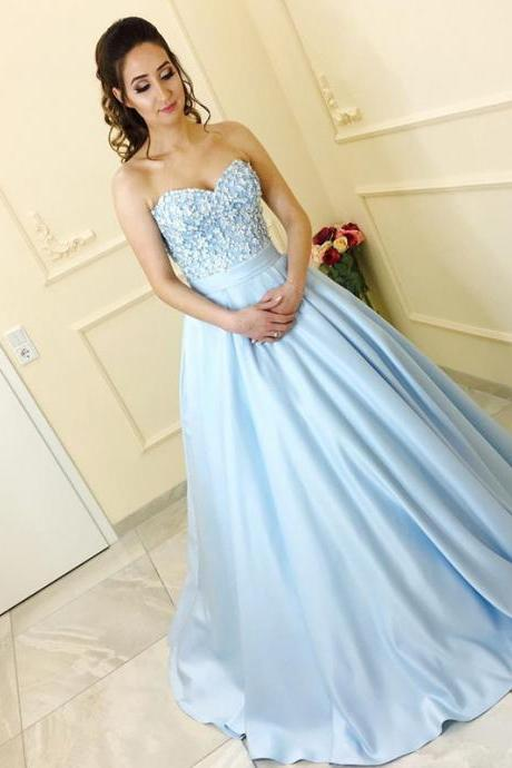 light blue prom dress,satin prom dresses,ball gowns prom dresses,prom dresses 2017