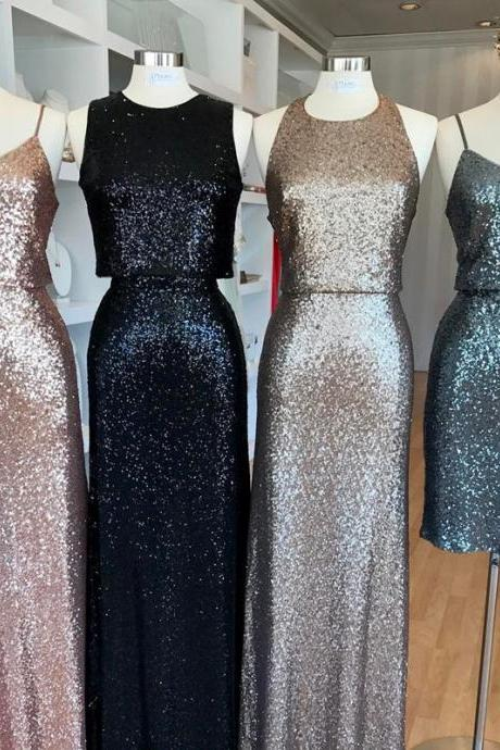 mixed style bridesmaid dress,long bridesmaid dresses,sequins bridesmaid dress,modern bridesmaid dresses