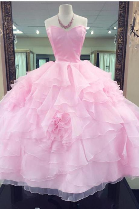 strapless Ball Gowns,Pink Quinceanera Dresses,Sweet 16 Dress,Sweet 15 Dresses
