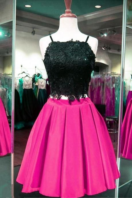 two piece prom dress,short homecoming dresses,elegant prom dress,short cocktail dress