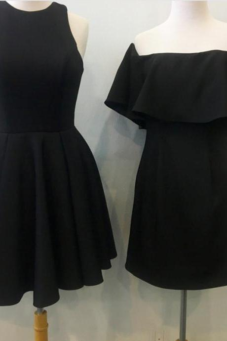 short black party dress,cute prom dress,short cocktail dress,short black homecoming dresses