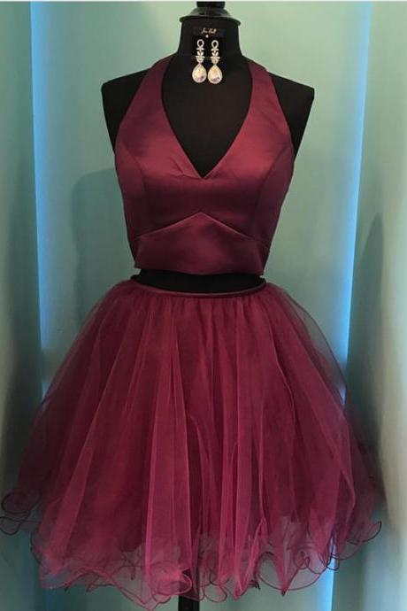 Two Piece Prom Dress,2 piece prom dress,two piece homecoming dress,semi formal dress