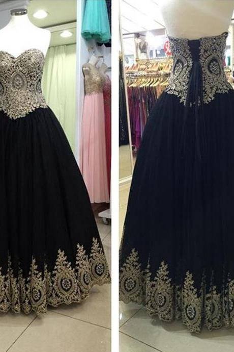 black prom dresses,black evening dresses,lace appliques dress,long formal dress,evening gowns,prom gowns 2016