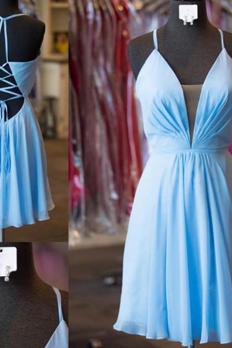 light blue homecoming dresses,short prom dresses 2017,open back prom dresses,backless graduation dress