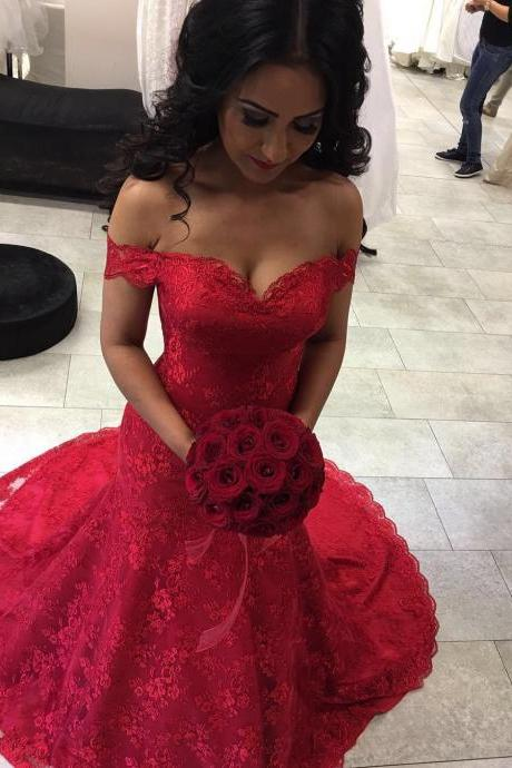 sexy off the shoulder burgundy lace mermaid prom dresses 2016 long sweetheart formal evening gowns