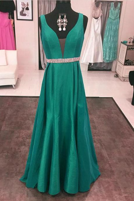 Emerald Green Evening Dresses,Long Prom Dress,Emerald Green Prom Gowns,Sexy Long Formal Dress
