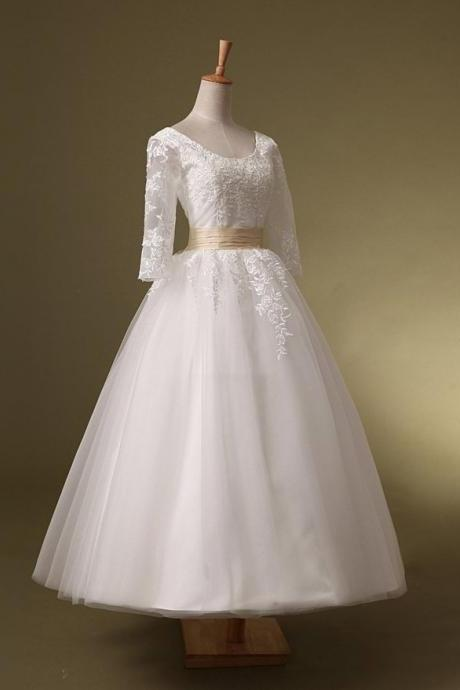 elegant tea length wedding dresses vintage 1950s style