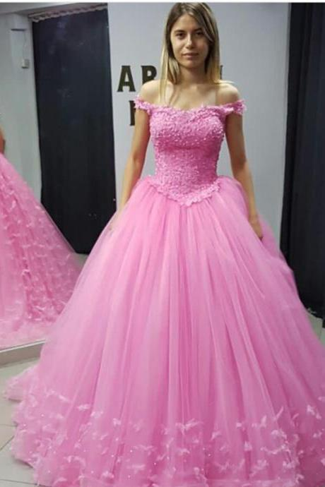 Pink Quinceanera Dresses,Ball Gowns Quinceanera Dresses,Sweet 16 Dresses,Pink Ball Gowns Prom Dresses