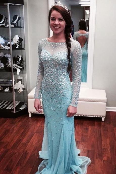 movie dress,frozen dress,long sleeves prom dresses,Elsa dress,long sleeves evening dress