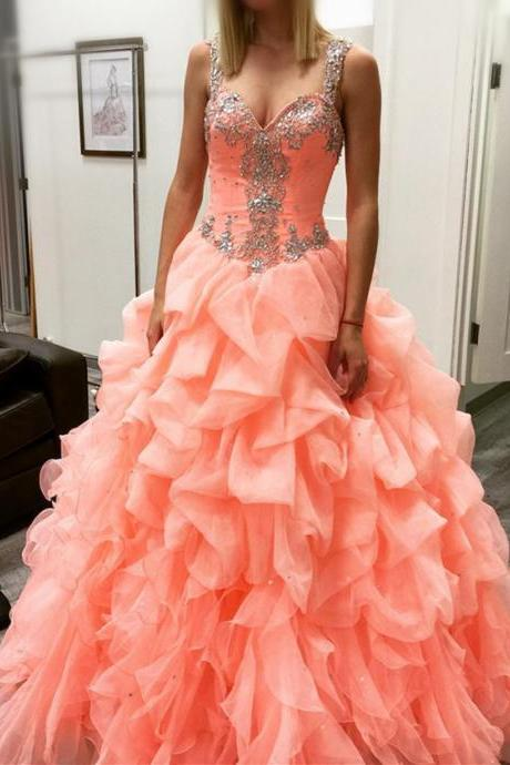 coral prom dresses,ball gowns quinceanera dresses,coral quinceanera dresses,quinceanera dresses 2017