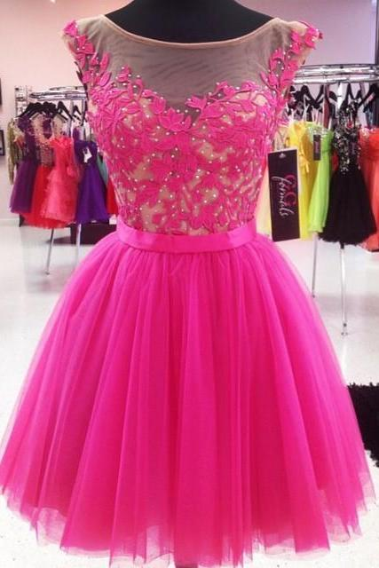 pink prom dress,short prom dresses,pink homecoming dresses,modest homecoming dress,short prom gowns 2017