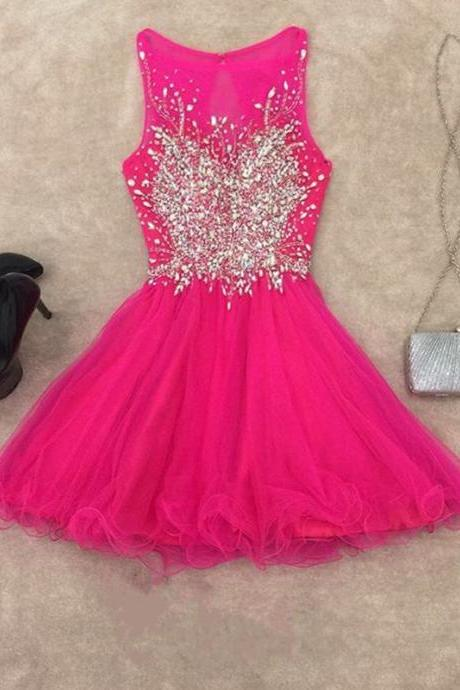 chic prom dresses,short prom gowns,pink homecoming dress,short cocktail dresses 2017,elegant prom gowns