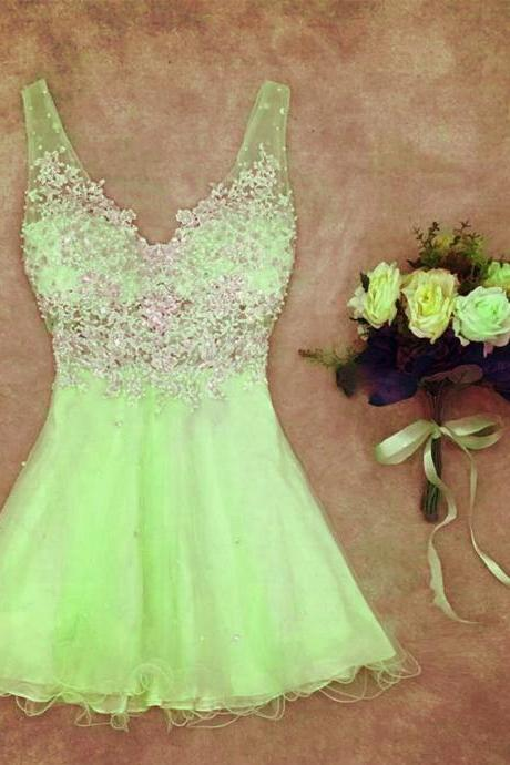 elegant lace appliques homecoming dresses,short v neck prom dresses,chic cocktail dresses,women' s party dress,semi formal dress