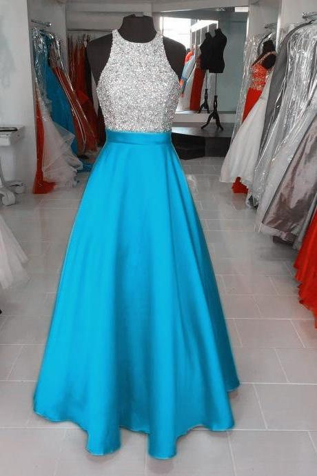 turquoise blue prom dresses,long evening gowns,halter prom dress,sparkly dress,prom dresses 2017 long