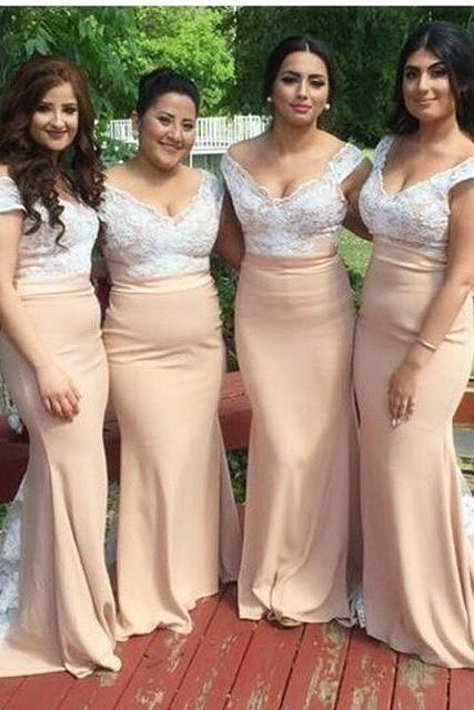 off shoulder evening gowns,champagne bridesmaid dresses,long prom gowns,mermaid prom dresses 2017
