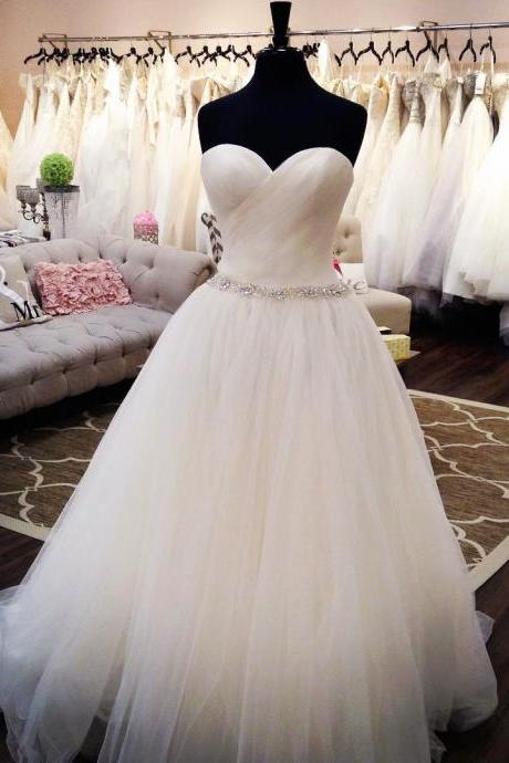 sweetheart wedding dress,tulle dress,princess wedding gowns,ball gowns wedding dresses 2017