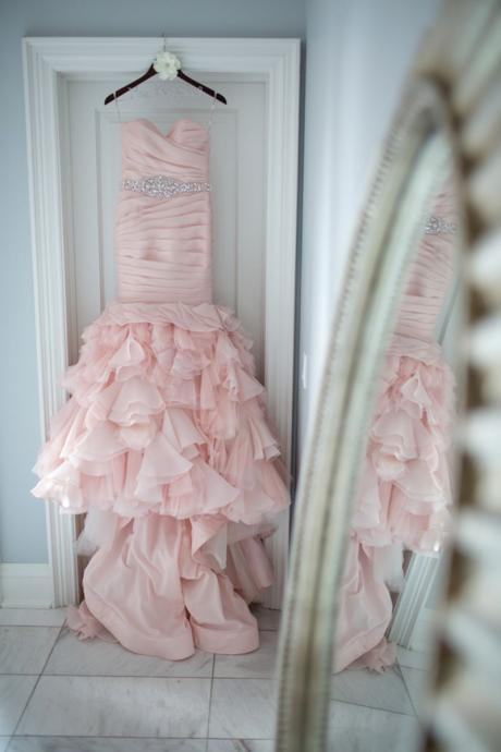 pink wedding dresses,mermaid wedding dresses,organza wedding dress,sexy wedding gowns,wedding dresses 2017
