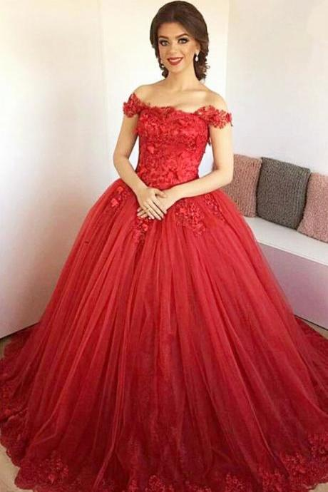 Lace Embroidery Sweetheart Tulle Ball Gowns Prom Dresses 2017 Elegant Engagement Dresses