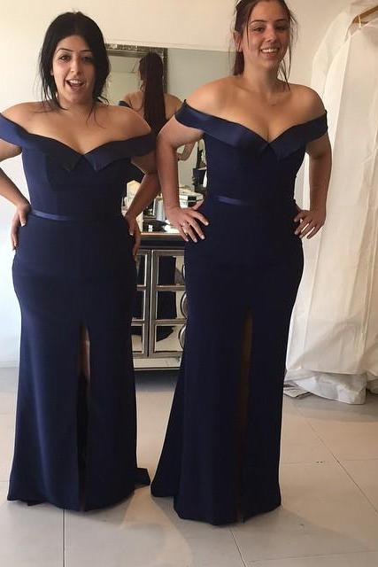 Navy Bridesmaid Dresses,Mermaid Evening Gowns,Formal Dress,Women's Party Dress,Sexy Bridesmaid Dress