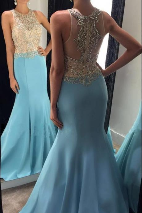 beaded prom dress,high neck prom dresses,mermaid evening dress,elegant formal dress,sexy mermaid dress