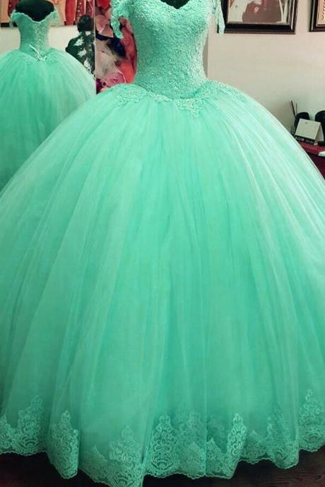 off the shoulder prom dress,ball gowns quinceanera dress,tulle wedding dresses,elegant quinceanera dresses,sweet 16 dresses