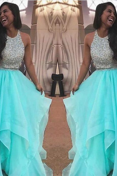 two piece prom dresses,prom dresses 2017,ball gown dresses,beaded prom dress,sparkly prom dress
