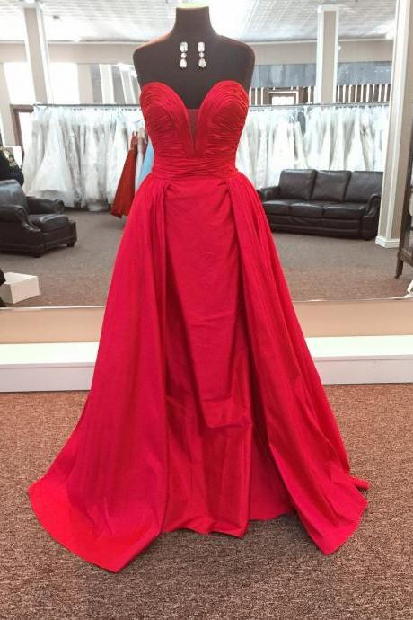 Taffeta Prom Dress,Mermaid Prom Dress,Mermaid Evening Gowns,Sweetheart Dress