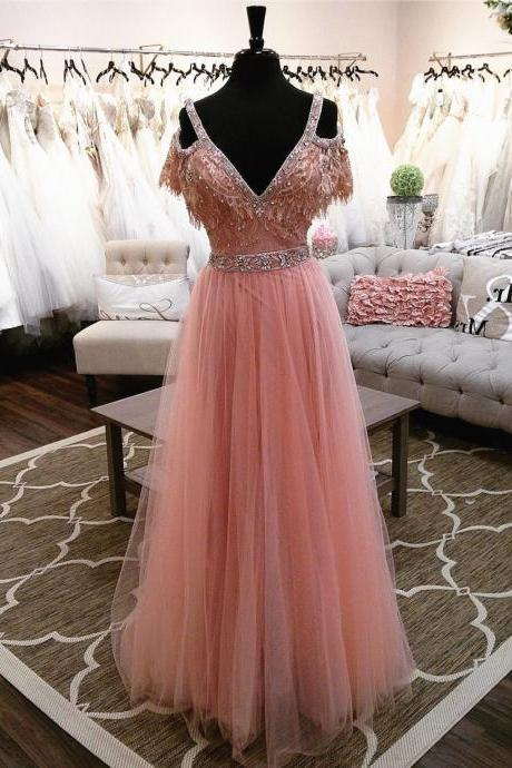 pink prom dress,off the shoulder evening gowns,elegant party dress,long prom dress