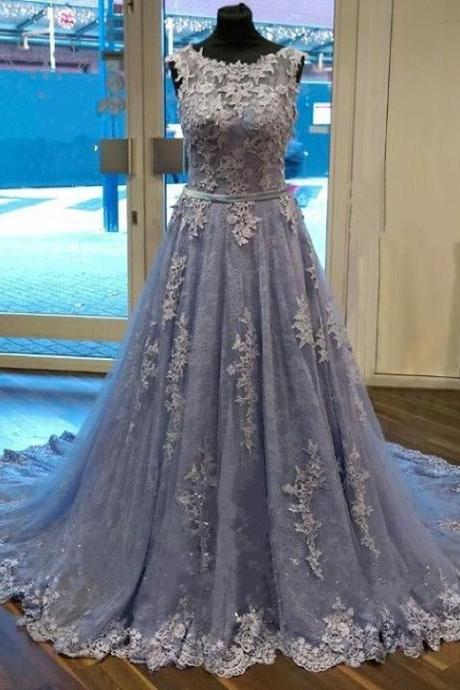 elegant lace prom dress,ball gowns prom dress,lace evening dress,long formal dress,cap sleeves prom dresses