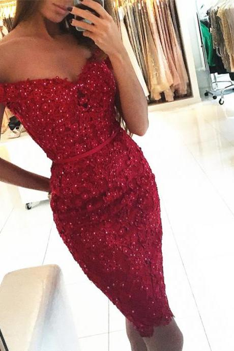 lace bridesmaid dress,burgundy cocktail dresses,wedding party dress,short prom dress,lace homecoming dresses