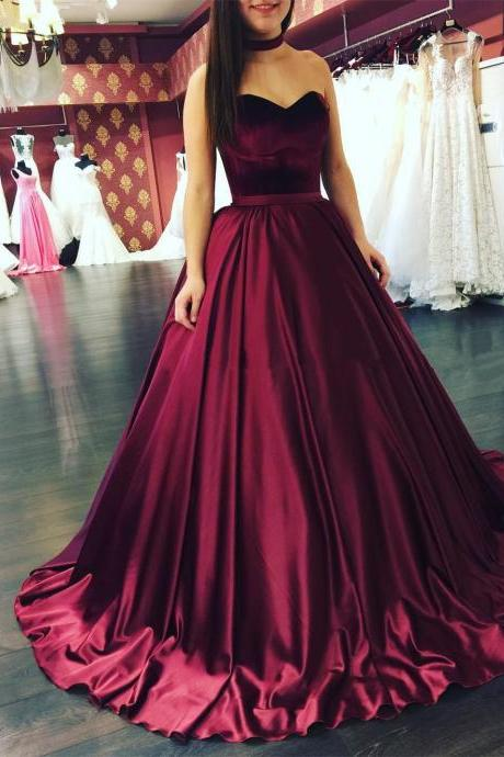burgundy ball gowns,burgundy wedding dresses,sweetheart dress,wedding gowns 2017,sexy wedding dresses